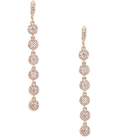 Givenchy Crystal Halo Linear Earrings