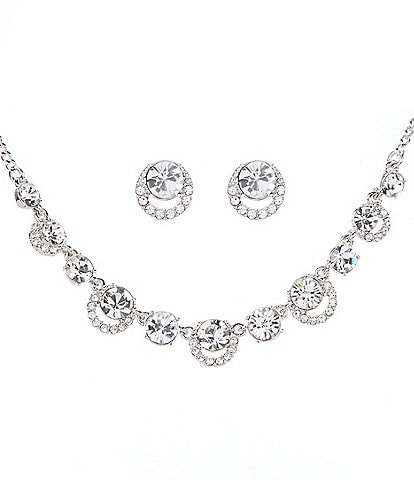 Givenchy Crystal Halo Necklace and Earring Set