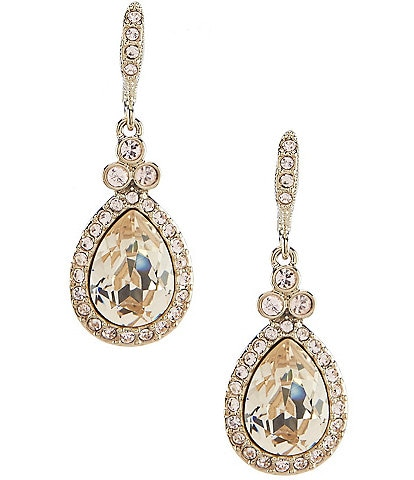 Givenchy Crystal Pavé Pear Drop Earrings