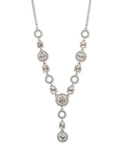 Givenchy Crystal Pave Y Necklace