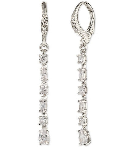 Givenchy CZ Small Linear Earrings