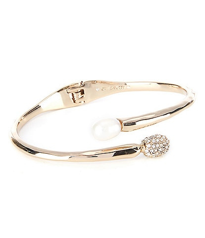 Givenchy Fresh Water Pearl Bypass Cuff Bracelet