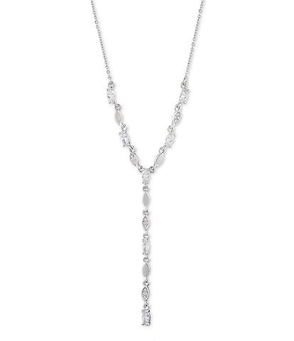 Givenchy Long Crystal Y Necklace