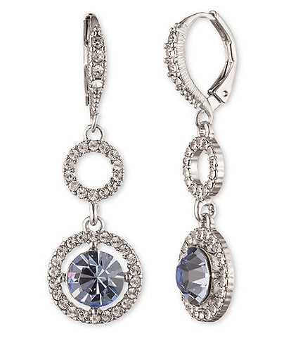 Givenchy Open Pave Drop Earrings
