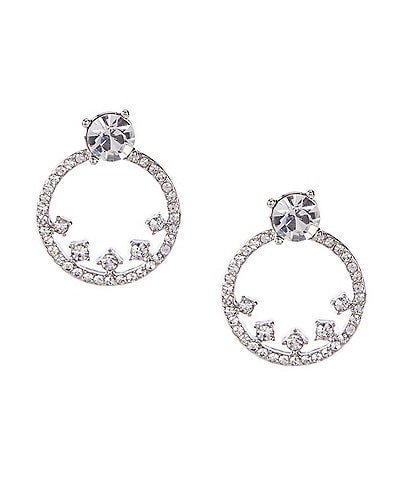 Givenchy Pave Hoop Floater Earrings