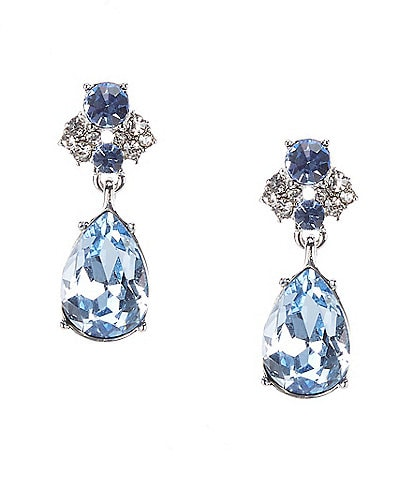 Givenchy Pear Blue Stone Drop Earrings