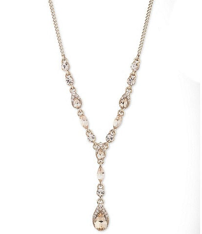 Givenchy Pear Stone Y Necklace