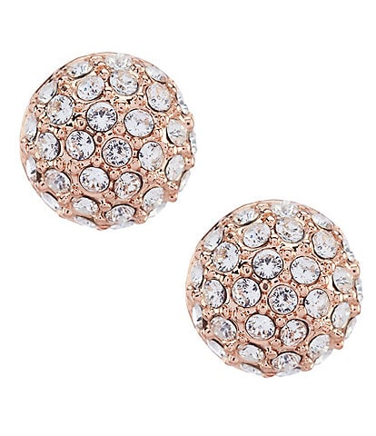Givenchy Rose Gold Pav Button Statement Earrings