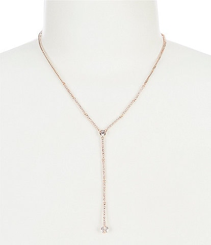 Givenchy Rose Gold Silk Long Y Necklace