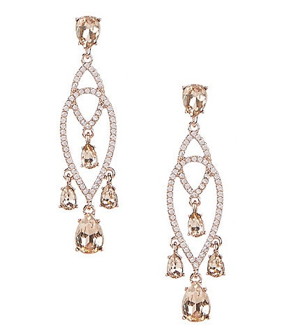 Givenchy Shaky Pave Chandelier Earrings