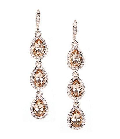 Givenchy Silk Pear Linear Earrings