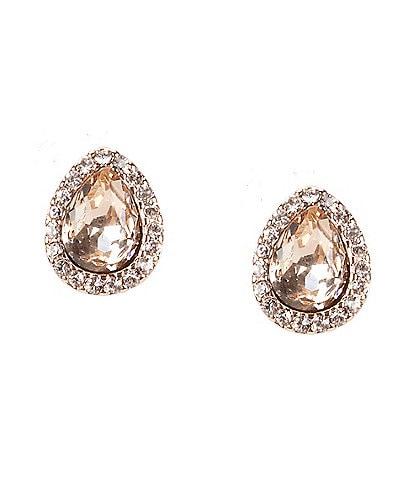 Givenchy Silk Pear Stud Earrings