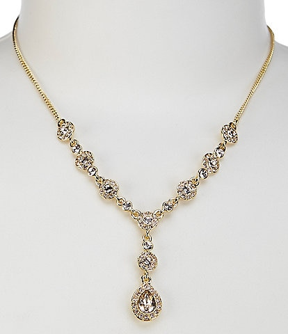 Givenchy Teardrop Gold Y Necklace