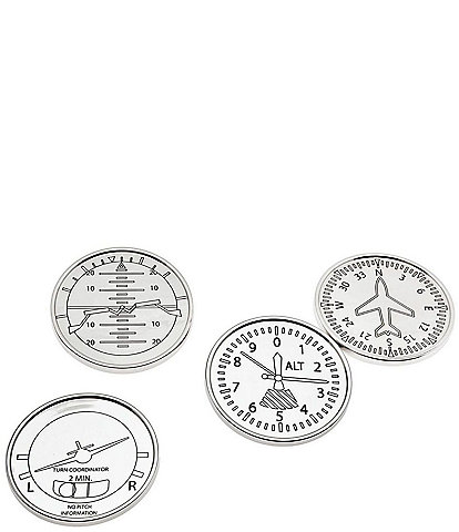 Godinger Airplane Coasters, Set of 4