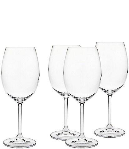 Godinger Crystal Meridian Red Wine Glasses, Set of 4
