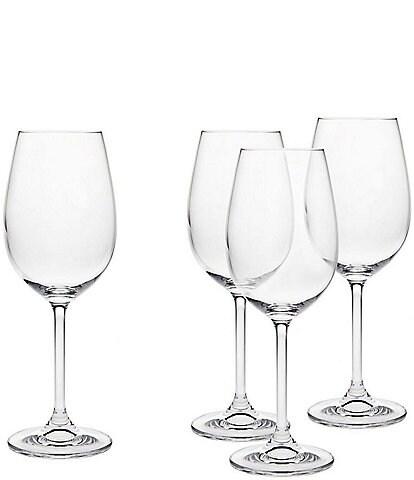 Godinger Crystal Meridian White Wine Glasses, Set of 4