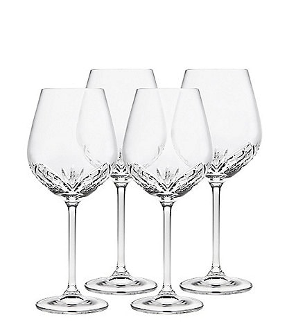 Godinger Dublin Reserve Crystal Wine Glasses, Set of 4