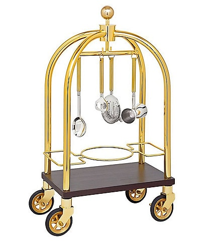 Godinger Luggage Bar Cart