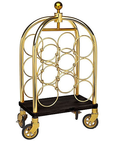 Godinger Luggage Wine Rack Cart