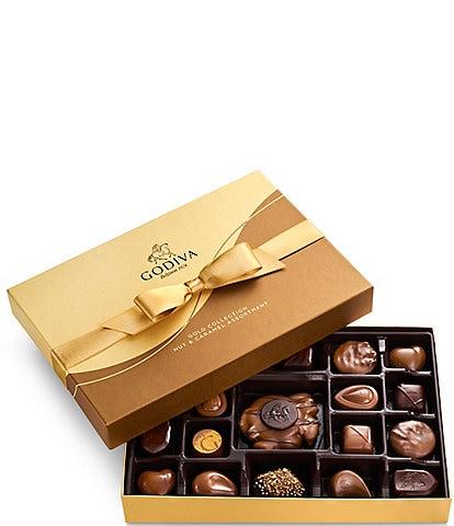 Godiva Chocolatier 19-Piece Nuts & Caramel Chocolate Gold Gift Box