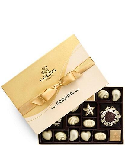 Godiva Chocolatier 22-Piece All White Chocolate Gold Ribbon Gift Box