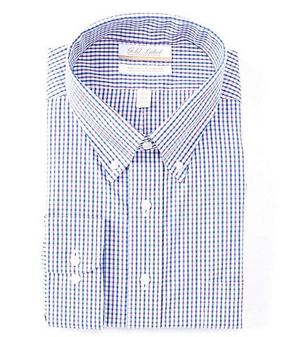 Gold Label Roundtree & Yorke Big & Tall Full Fit Non-Iron Button Down Collar Long Sleeve Dress Shirt
