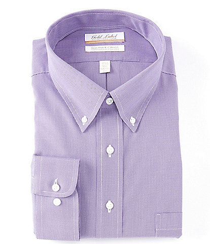 Gold Label Roundtree & Yorke Big & Tall Full Fit Non-Iron Point Collar Long Sleeve Dress Shirt