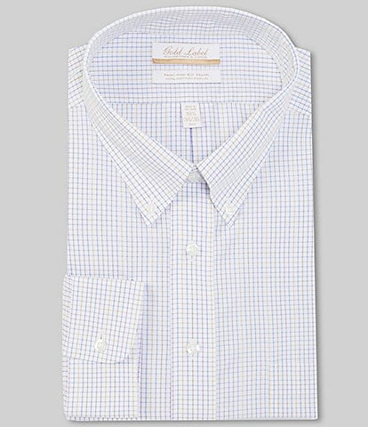 Gold Label Roundtree & Yorke Big & Tall Non-Iron Button-Down Collar Solid Oxford Dress Shirt