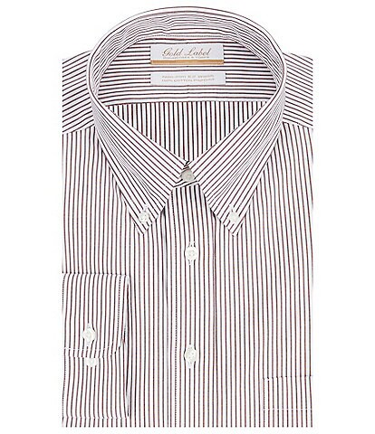 Gold Label Roundtree & Yorke Big & Tall Non-Iron Button-Down Collar Striped Dress Shirt