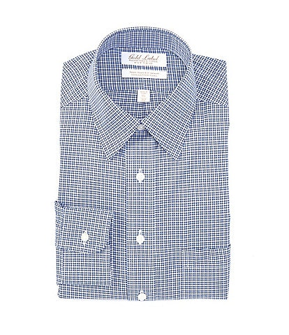 Gold Label Roundtree & Yorke Non-Iron Classic-Fit Point Collar Gingham Dress Shirt
