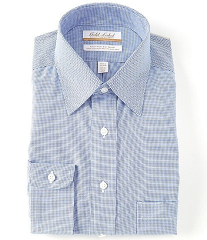 Gold Label Roundtree & Yorke Non-Iron Fitted Point Collar Nail Head Dress Shirt