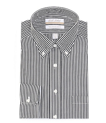 Gold Label Roundtree & Yorke Non-Iron Full Fit Button-Down Collar Stripe Dress Shirt