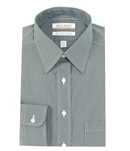 Gold Label Roundtree & Yorke Non-Iron Full Fit Point Collar Textured Dress Shirt