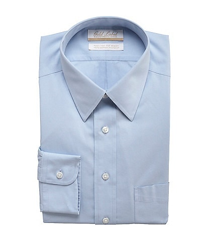 Gold Label Roundtree & Yorke Non-Iron Full-Fit Point-Collar Solid Dress Shirt