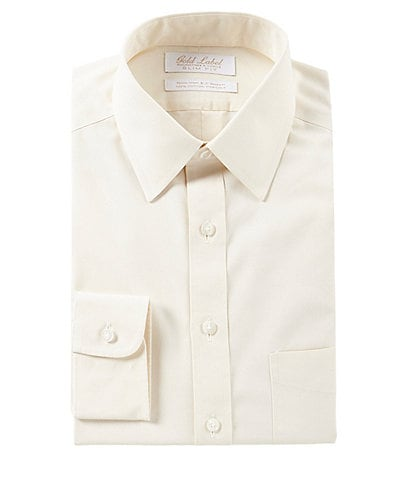 Gold Label Roundtree & Yorke Non-Iron Slim Fit Point Collar Solid Dress Shirt