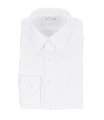 Gold Label Roundtree & Yorke Non-Iron Stretch Slim-Fit Point-Collar Solid Dress Shirt