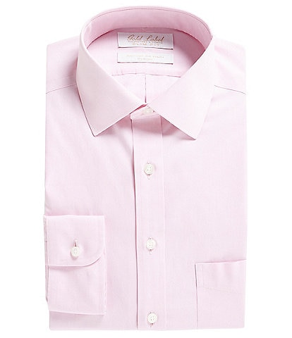 Gold Label Roundtree & Yorke Non-Iron Stretch Slim Fit Spread Collar Solid Dress Shirt