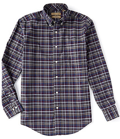 Gold Label Roundtree & Yorke Perfect Performance Long-Sleeve Checked Sportshirt