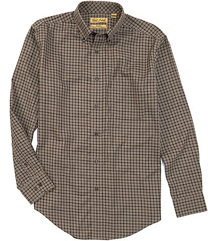 Gold Label Roundtree & Yorke Perfect Performance Long-Sleeve Non-Iron Multi Gingham Sportshirt