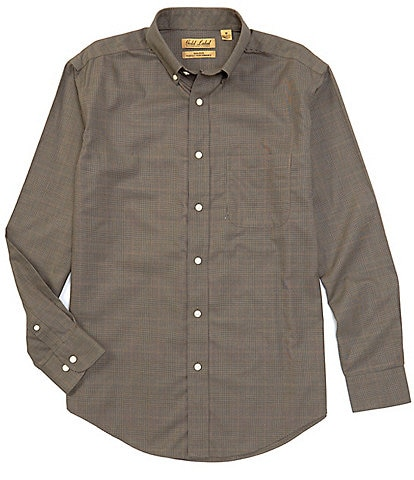 Gold Label Roundtree & Yorke Perfect Performance Non-Iron Long-Sleeve Suiting Plaid Sportshirt