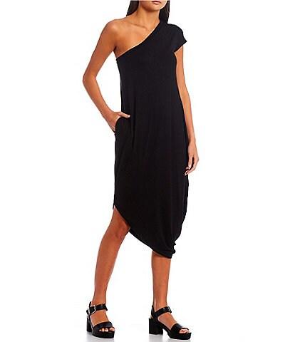Good Luck Gem One Shoulder Asymmetric Hem Dress