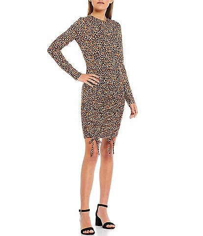 Good Luck Gem Printed Double Cinched Front Dress