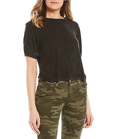 Good Luck Gem Short-Sleeve Mineral Washed Boxy Tee