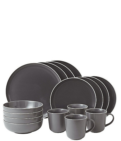 Gordon Ramsay by Royal Doulton Bread Street Slate 16-Piece Set Dinnerware Set