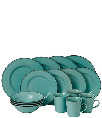Gordon Ramsay by Royal Doulton Cafe to Union Street Collection Teal 16-Piece Dinnerware Set