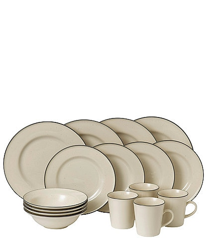 Gordon Ramsay by Royal Doulton Union Street Cafe Cream 16-Piece Dinnerware Set