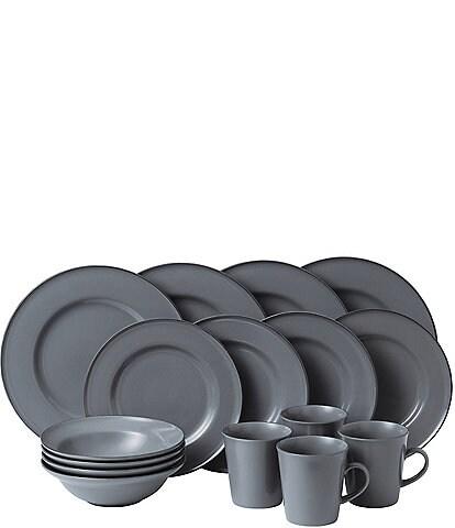 Gordon Ramsay by Royal Doulton Union Street Cafe Grey 16-Piece Dinnerware Set
