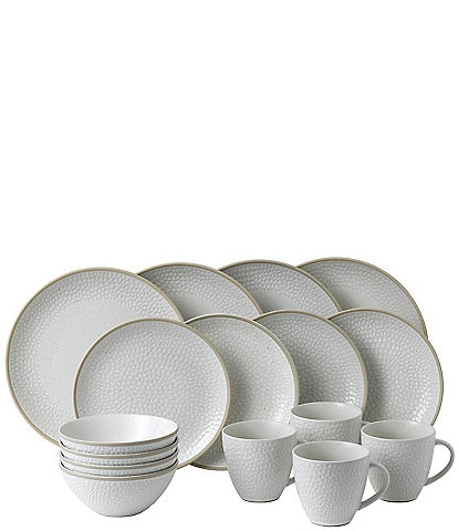 Gordon Ramsay Maze Grill Hammer White 16-Piece Dinnerware Set