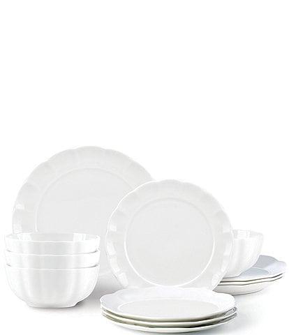 Gorham Manor Bone China 12-Piece Dinnerware Set
