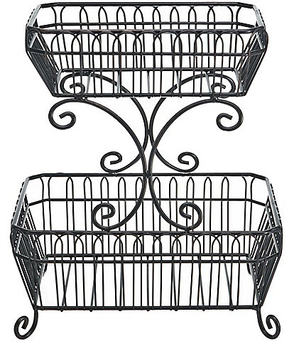 Gourmet Basics by Mikasa French Countryside 2-Tier Fruit Storage Basket